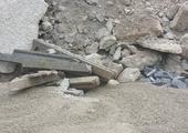 Storten van betonpuin